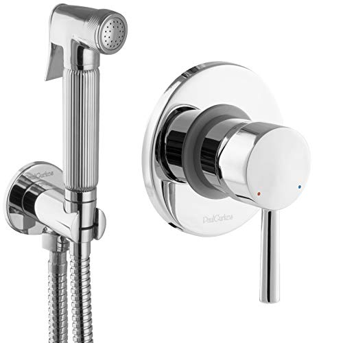 PaulGurkes Bidet Set Unterputz WC-Brause Hygienedusche Intimdusche