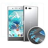 atFolix Schutzfolie passend für Sony Xperia XZ Premium Folie, ultraklare & Flexible FX Bildschirmschutzfolie (3er Set)
