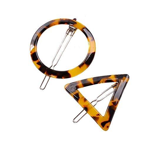 2 Paar Leopard Print Geometrische Haarklammern Haarspange Haarspangen Haarspangen Haarspangen Bobby Pin Pferdeschwanz Halter Haarstyling Zubehör für Frauen...