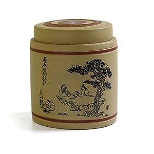 750ml chinois Rare de Yixing Zisha Argile poterie dégustation Thé Boîtes de rangement Caddy Pot Jaune