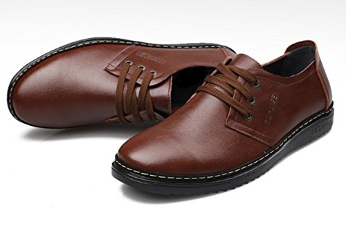 WZG simples chaussures en cuir de vache Les nouveaux hommes, chaussures pour hommes, vache chaussures de sport des hommes doux Brown