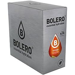 Bolero Bebida Instantánea sin Azúcar, Sabor Naranja - Paquete de 24 x 9 gr - Total: 216 gr