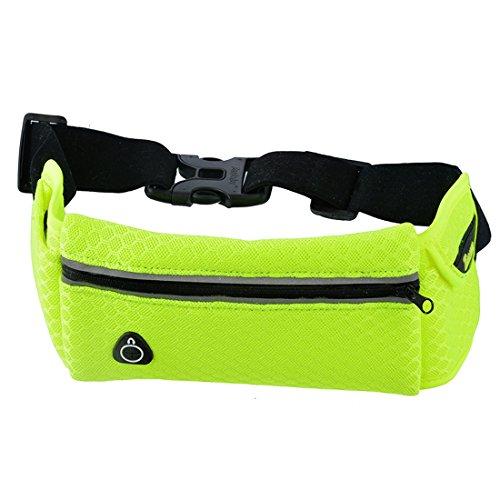 Vertvie Unisex Outdoor Training Handytasche Sporttasche Multifunktionstaschen Fitnesstasche Handy-Paket läuft Gelb