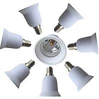 dzydzr 8pieza adaptador de casquillo E14a E27para bombillas LED