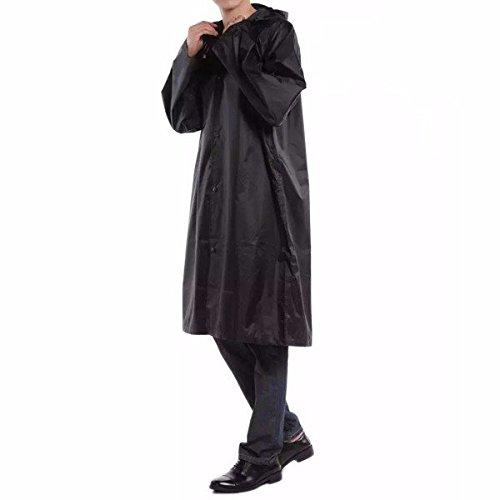 Bazaar Erwachsene Outdoor Regenmantel Lang Poncho Hood Thicker Reflektierende Typen Design Arbeit Reise Regenbekleidung -