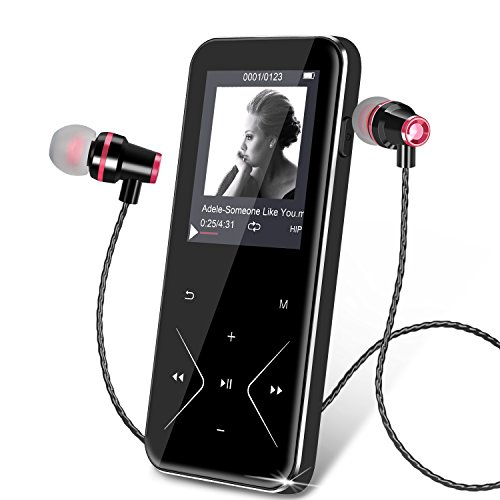 MP3 Player Bluetooth KLANGTOP 8G Musik Player Mit Berührungstasten FM Radio Aufzeichnung 24 Stunden Wiedergabe Test
