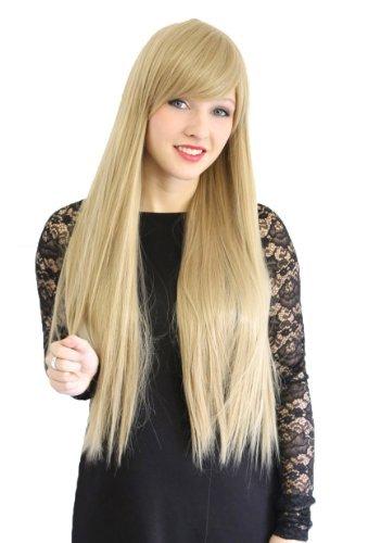 Cosplayland C1883-75cm lange Haare caramelblond Blond galtte Volumen hitzebeständige ()