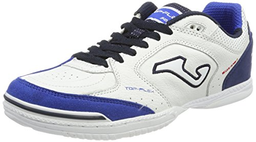 Joma TOP FLEX 716 Indoor - Scarpe Calcetto Uomo - Men's Futsal Shoes - TOPW.716.IN (43, bianco-navy)