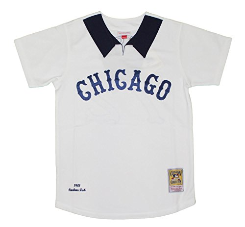 Mitchell & Ness Carlton Fisk Chicago White Sox Authentic 1981 Jersey - Medium/40 (Carlton Sox White Fisk)