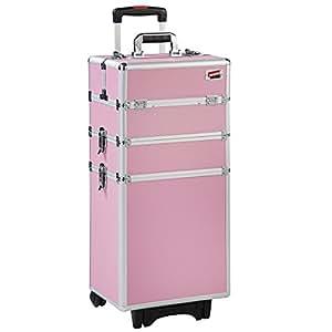 Beautify:Malette Professionnelle Cosmétique de couleur Rose Multifonction