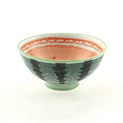 2 Pc Japanese Watermelon Rice Bowl Set Includes 2 Bowls