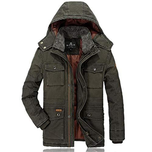 BGFHDLWESR Winter Warme Outwear Parkas Coat Herren Casual Baumwolle Gepolsterte MilitäRjacke Im Mittleren Alter Army Green M