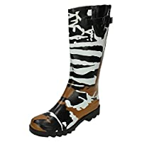 Spot On Womens/Ladies Camouflage Print Rubber Wellington Boots