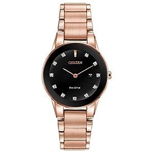 Reloj de Pulsera de Cuarzo de Las Mujeres de la Axiom con Pantalla y Pulsera de Acero Inoxidable