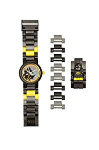 LEGO Batman Movie Batman Kids Minifigure Link Buildable Watch | black/yellow | plastic | 28mm case diameter| analogue quartz | boy girl | official