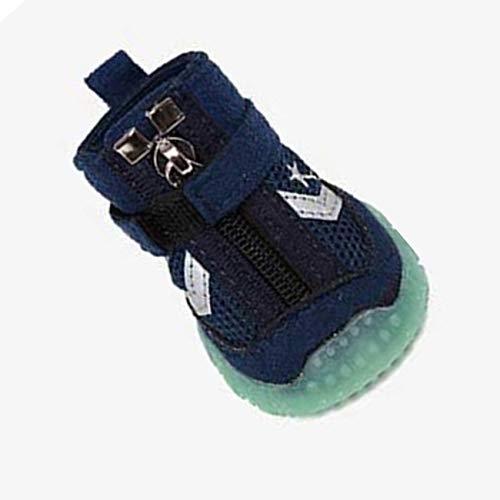 Jiobapiongxin Cuccioli Luminosi di Design Traspirante Scarpe da Cane per Animali Domestici Sport Stivali Antiscivolo Casuali Scarpe da Tennis Forniture per Animali Domestici (Blu) JBP-X