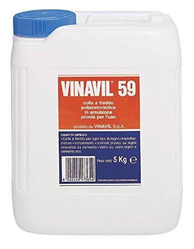 Bostik 10811 Vinavil 59 kg.5, Bianco, 5kg