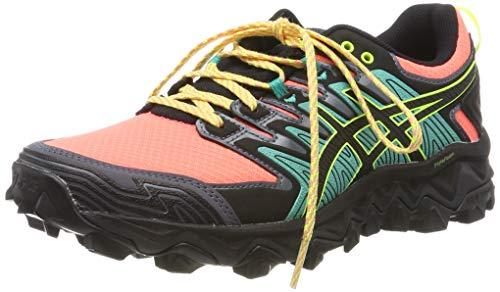 Asics Gel-Fujitrabuco 7, Zapatillas de Running para Mujer, Rosa (Sun Coral/Black 700), 37 EU