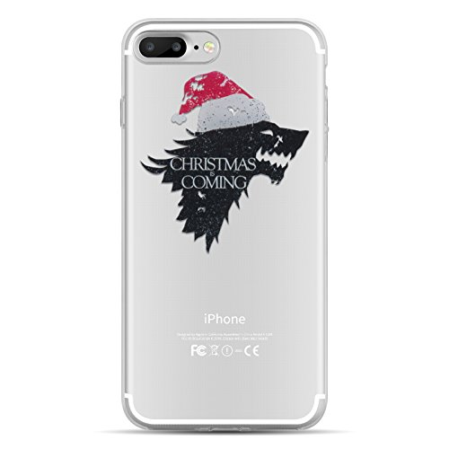 iPhone 8, iPhone 7 Hülle | JAMMYLIZARD Transparente Schutzhülle Gel Weihnachts-Sketch Back Cover Case aus Silikon, Deadpool CHRISTMAS IS COMING