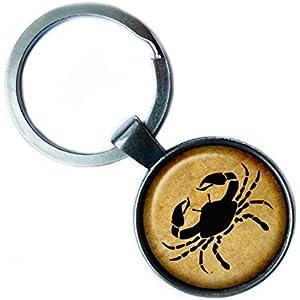 Zodiac Cancer Tierkreis Krebs Silver Keychain Silber Schlüsselanhänger