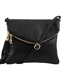Tuscany Leather TL Young Bag - Sac bandoulière avec pompon Sacs à bandoulière en cuir