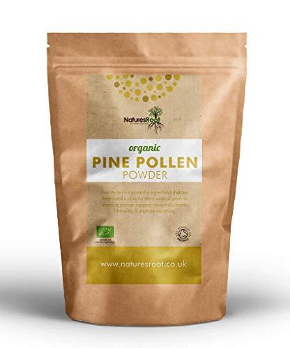 Nature\'s Root Bio Pinienpollen Pulver 60g - Testosteron Booster | 100{298b2fdb52fc6ba5bbd962cf4412a83dc0d32342dbcdb5b702183efbea0be4f6} Natürlich | Pine Pollen | Gebrochene Zellwand | Rohkostqualität