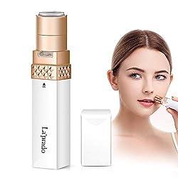 Elektrisch Rasierer Damen, La'prado Flawless Gesichtshaarentferner für Frauen mit LED-Licht, Intimbereich Hair Remover für Gesicht, Lippe, Finger, Wange, Achsel (Weiß)