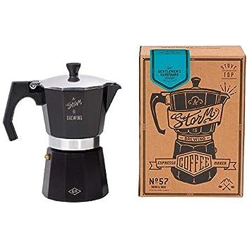 Gentlemens Hardware Coffee Percolator Black With Silver Trim