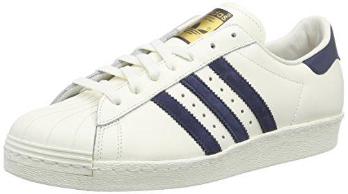 adidas Superstar 80s Deluxe Herren Sneakers Weiß (Vintage White S15-ST/Collegiate Navy/Off White)
