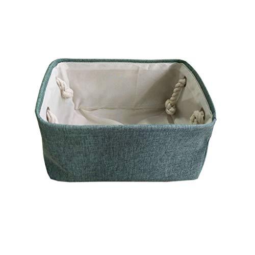 korb, Aufbewahrungstuch Schmales Handtuch Hundespielzeug Kleidung Decke Büromaterial BBJOZ (Color : Green, Size : S) ()