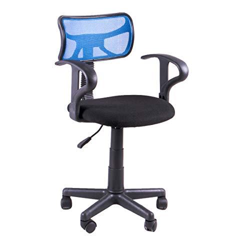 Ws design compralo.eu - sedia cameretta bracciolo ragazzo girevole pc scrivania casa blu nero (blu)