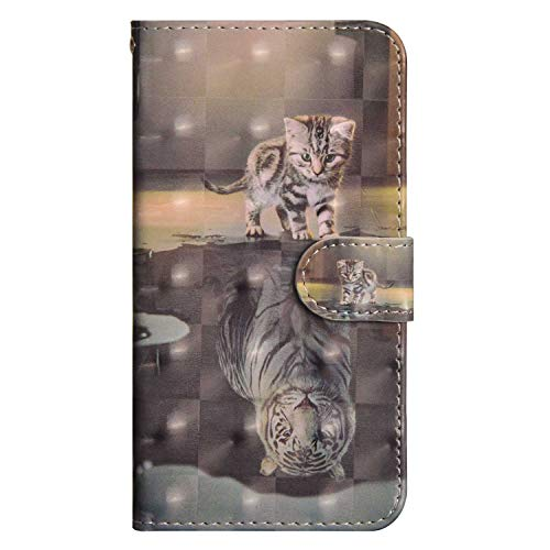 82343d0ae5c DENDICO Cover iPhone 7 Plus / 8 Plus, Custodia Eccellente Magnetica Flip  Copertura Portafoglio Cover