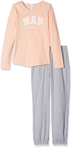 Sanetta Mädchen Zweiteiliger Schlafanzug 244099 Long, Orange (Tropical Peach 3994), - Prinzessin Peach-18