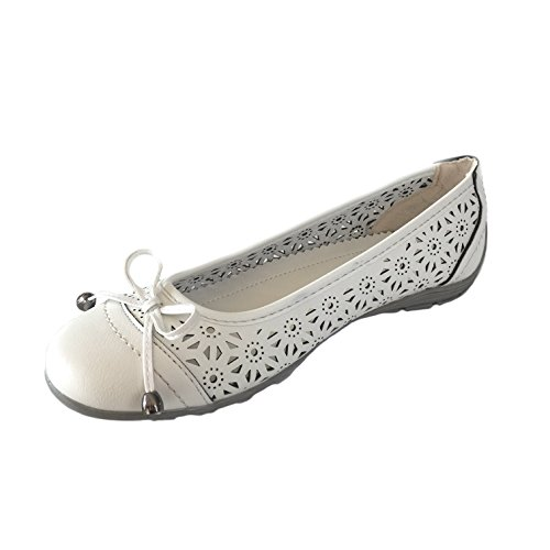 Scandi, Ballerines Femme Blanc Blanc Blanc