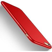 Funda iPhone 6/6s, HUMIXX Alta Calidad Ultra Slim Anti-Rasguño y Resistente Huellas Dactilares Totalmente Protectora Caso de Plástico Duro Cover Case (iPhone 6/6s, rojo)[Skin Series]