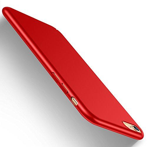 Hard Bumper Case Cover (iPhone 6s Hülle, iPhone 6 case, HUMIXX Hochwertigem Stoßfest Anti-Fingerabdruck Anti-Scratch FeinMatt FederLeicht Hülle Bumper Cover Schutz Tasche Schale Hard case für iPhone 6s 6 (Rot) 【Skin series】)