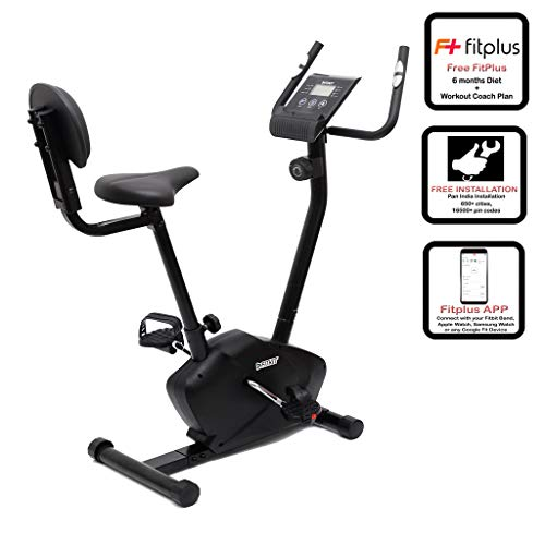 Fitkit FK750 Magnetic Bike with Back Rest (8 lbs) with...
