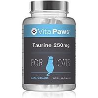 VitaPaws™ Taurina 250mg | 180 Cápsulas para espolvorear | Aminoácido esencial en la dieta de los gatos | Indicado para gatos