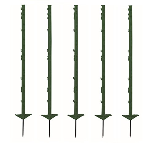 *Growi Weidezaunpfahl Kunststoff 105 cm grün 20 Stück*