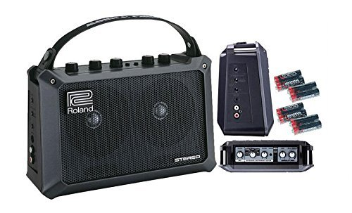 Roland Mobile Cube Battery-Powered Stereo Amplifier with 8 Universal Electronics AA Batteries