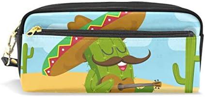 Deziro Cactus jouant de la guitare Trousse Trousse Trousse Box Trousse cosmétique B07HK654P7 | Matériaux De Grande Qualité  e03ea3