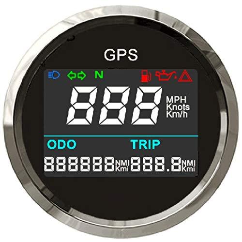 ELING Contachilometri regolabile digitale GPS Contachilometri contachilometri per barca yacht moto auto 2 pollici (52mm)