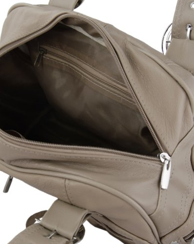 Groß, Damen Schultertasche/Handtasche, Schwarz, Braun, cremefarben, Beige, Rot, Pflaume Beige - Fawn