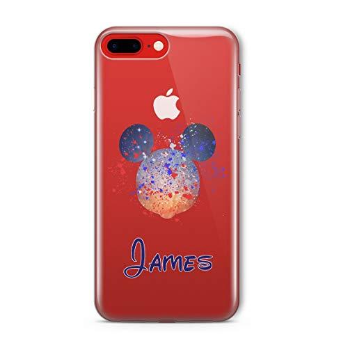SmartGiftShop Zeichentrickfilm Disney PERSONALISIERTE ANGEPASST KLARE Hülle für iPhone Samsung - iPhone 5c - Disney Mickey Blue