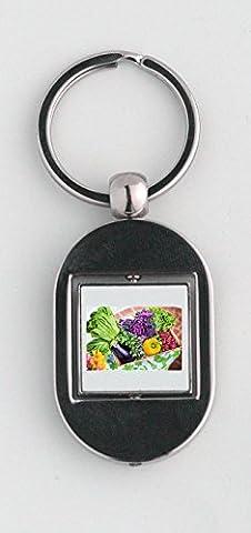 Key ring with Vegetables, Garden, Harvest, Organic