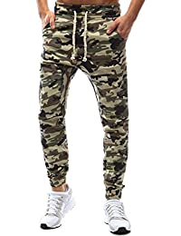Homme Camouflage Pantalon Jogging Décontracté Sarouel Sweat Pants Hiphop  Longue Combat Sport Casual Fit ... 0003d4fe977a