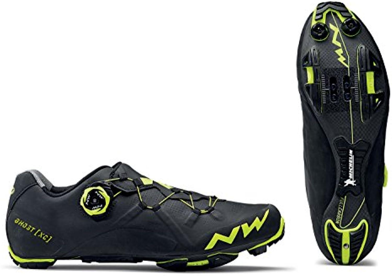 Northwave Ghost XC bicicleta de montaña guantes negro/amarillo 2018, 43