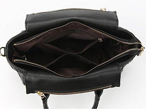 Art Und Weise Einfache Handgewebte Damen Beutel Schulterbeutel Diagonale Pakethandtaschenflügelbeutel Grey