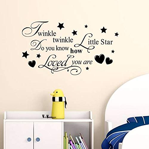 WWYJN Twinkle Little Star Wall Decal Stars Vinyl Wall Sticker Home Kids Room Decor Removable Nursery Twinkle Star Wall Mural  67x42cm - Messen Gucci