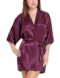 1b2ffe586c7 Tommy Vans Women Satin Babydoll Kimono Robes V-Neck Nightwear Rob Nightdress  for Women Sexy